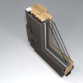 Medinės durys. Profilis Gama T78 Therm