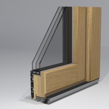 Medinės durys. Profilis T78 Braga