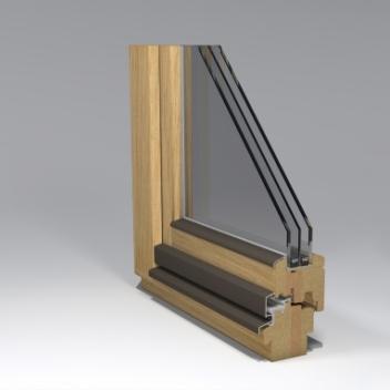 timber window gama_78 profile design by www.gamalangai.lt/en/