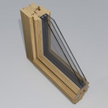wooden window gama_78_rustic profile design by www.gamalangai.lt/en/