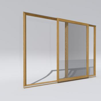 Terasinių durų PSK PATIO tipo pritaikymo pavyzdys