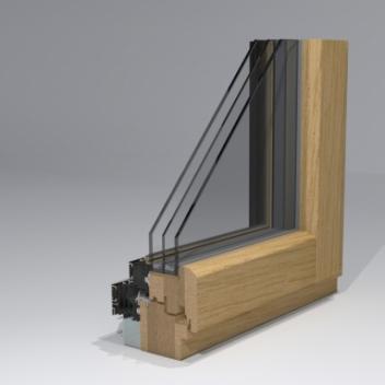 timber window profile gama_78_therm profile design by www.gamalangai.lt/en/